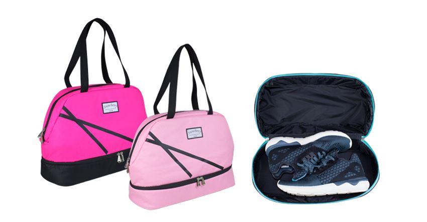 鞋子,衣物分開收納,亦可將乾淨與髒汙的衣物隔離使用,健身包