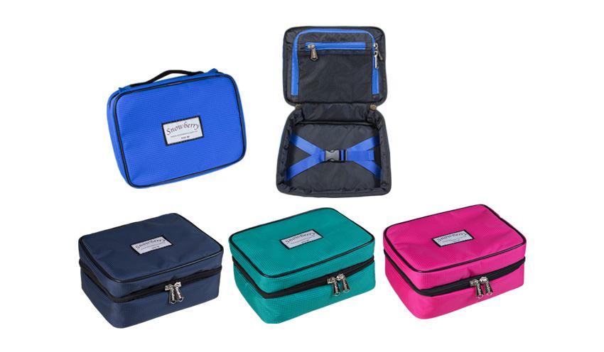 圓形衣物收納袋 - 可手提,防潑水面料,內有固定繩設計,瓶罐不再凌亂圖