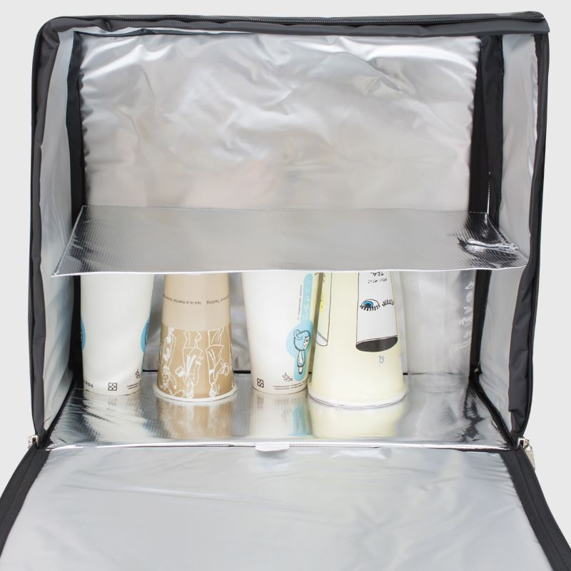 飲料外送保溫袋,保冷,雙層空間,可放置18至24杯手搖飲料-展示圖